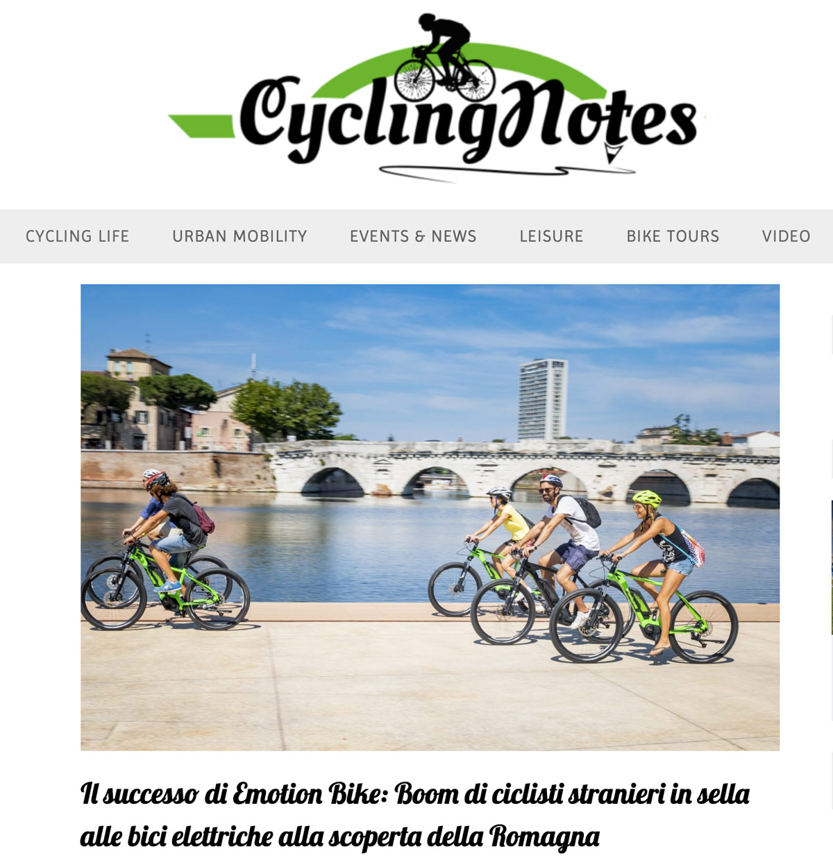 Cycling Notes parla di Emotion Bike