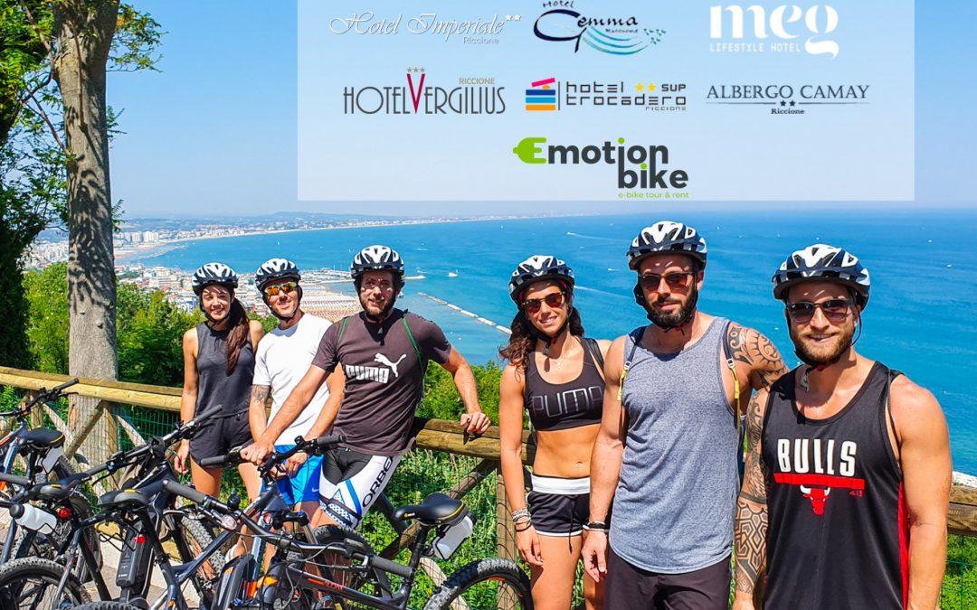 12 nuovi ebike hotel a Riccione si uniscono ad Emotion Bike