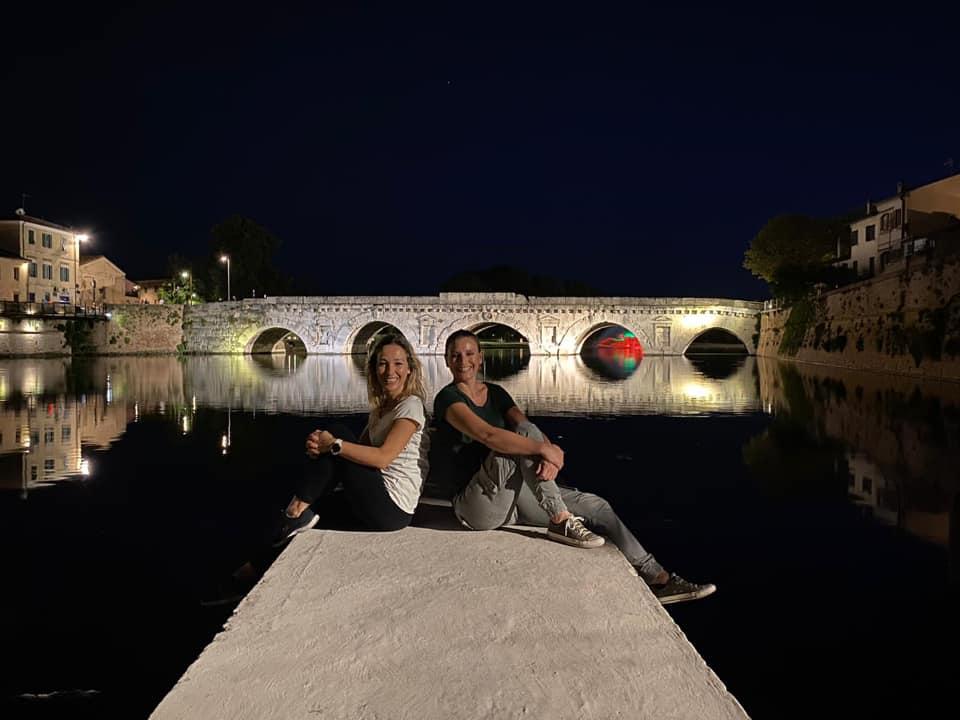 ponte di tiberio - ebike tour di rimini serale